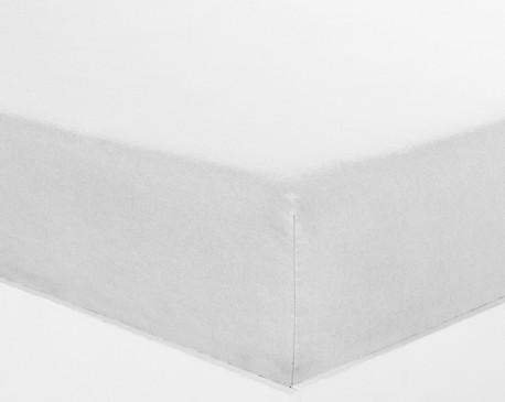 Drap housse 140x190cm Percale Blanc