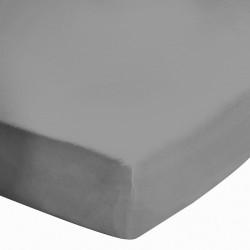 Drap housse 140x190cm Percale Zinc