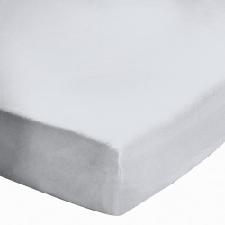 Drap housse Blanc Bonnet 27 cm 160x200