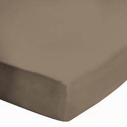 Drap Housse 140x190 Chocolat BT 27 cm