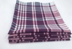 Mouchoirs de Travail Quadrillé 50x50cm Coton (Lot de 6)