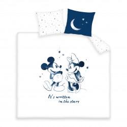 Housse de couette Mickey and Minnie Stars 220 x 240 cm 100% Coton 57 fils