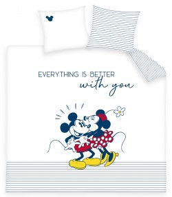 Housse de couette Mickey and Minnie Kiss 220 x 240 cm 100% Coton 57 fils