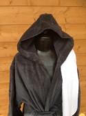 Peignoir capuche gris