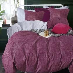 Housse de couette réversible 220x240 Purplelise 100% Coton 80 fils Percale