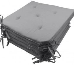 Lot de 6 Galettes de Chaise - 5 points - Victoria gris