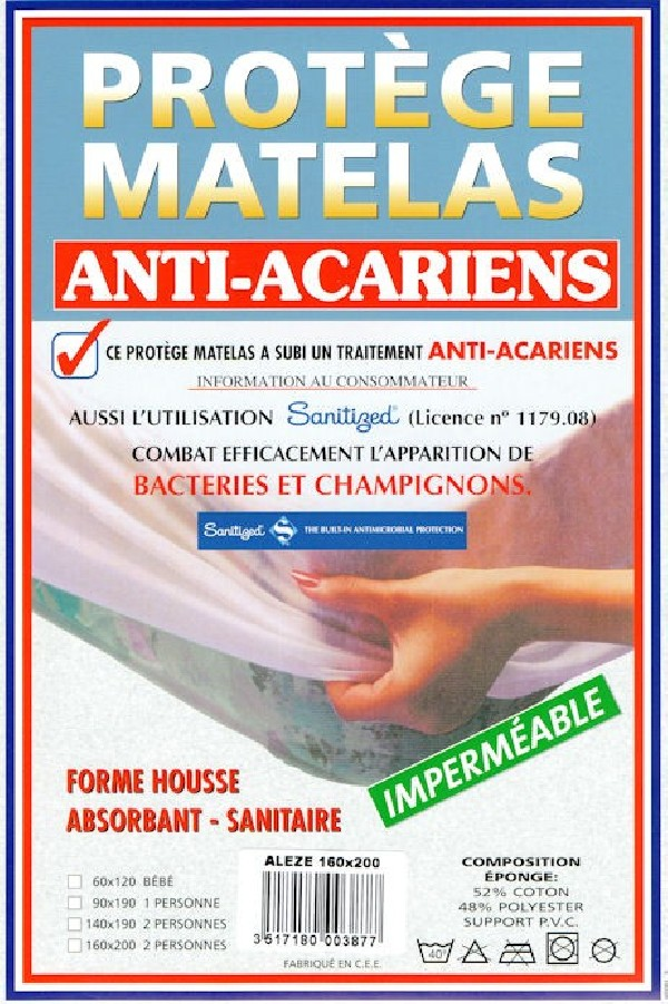 housse de matelas anti acariens cgmrotterdam. Black Bedroom Furniture Sets. Home Design Ideas