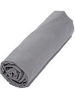 drap housse 140x190 pour lit 2 places gris. Black Bedroom Furniture Sets. Home Design Ideas