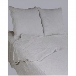 Couvre lit boutis uni blanc blanc cass rouge et gris clair - Couvre lit gris clair ...