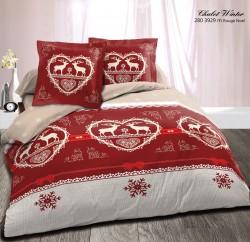 Parure Chalet Winter Rouge (4p)