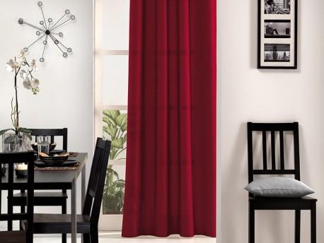 Rideaux style laine rouge