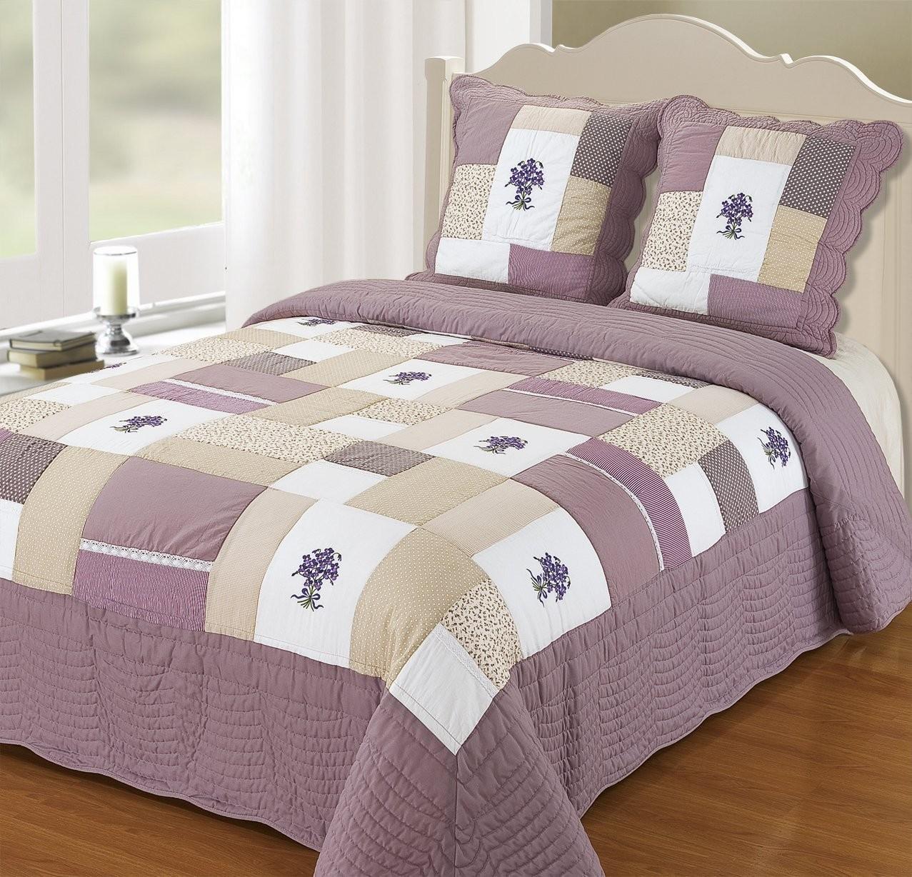 boutis couvre lit provence 260x280 - Couverture Lit