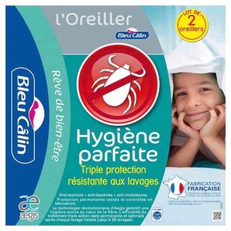 Oreiller Anti Acariens 60x60 (par lot de 2)