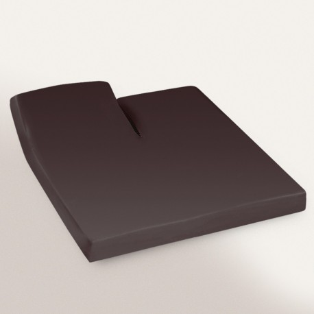 Drap housse Cacao 2x70x190 Tête Relevable