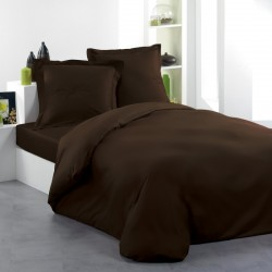 Housse de Couette 200x200 Cacao + 2 taies
