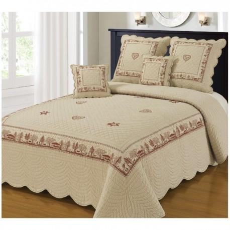 couvre lit montagne chalet meribel lin. Black Bedroom Furniture Sets. Home Design Ideas