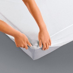 Protège Matelas Imperméable Molleton Coton 200g/m²  90x190 Drap Housse