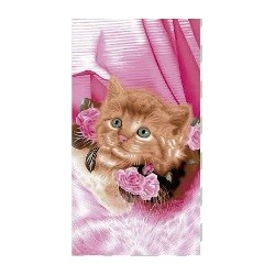 Serviette de plage Chat 70 x 140