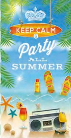 Serviette de plage Party All Summer 95x175