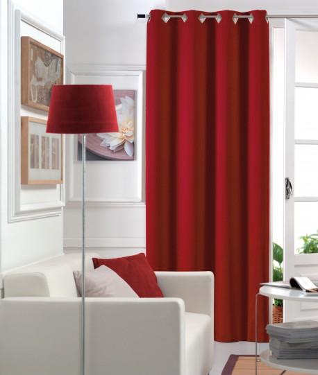 Rideau Occultant Œillets Urban Rouge 140x250