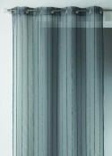 Voilage à Rayure Verticale Effet Laine Anthracite 140x260