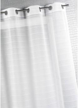Voilage Fantaisie à Fine Rayure Blanche 290x240