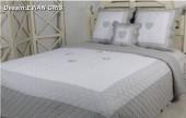 Couvre Lit Boutis Evian Gris 230x250