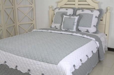 couvre lit gris Couvre Lit Boutis Naïve Gris 1 Place couvre lit gris