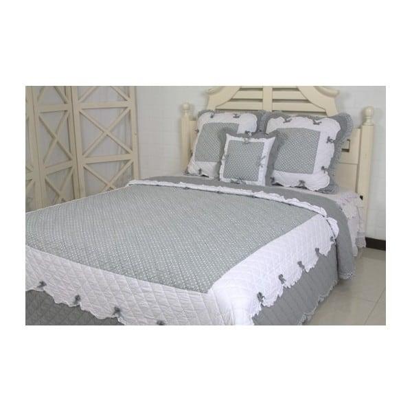 couvre lit boutis na ve gris 1 place. Black Bedroom Furniture Sets. Home Design Ideas