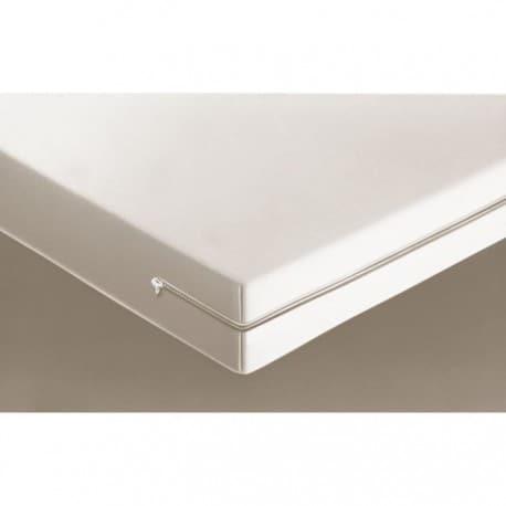 Housse de matelas intégrale coloris blanc 90x190