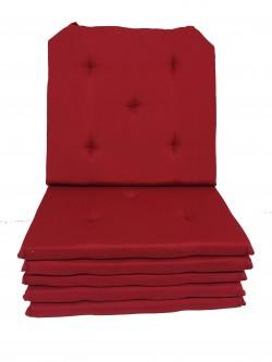 Lot de 6 Galettes de Chaise - 16 points - Victoria Rouge
