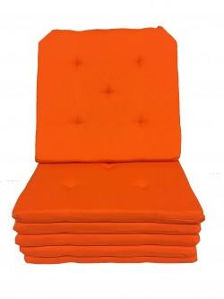 Lot de 6 Galettes de Chaise - 5 points - Victoria Orange