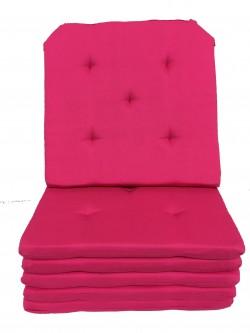 Lot de 6 Galettes de Chaise - 5 points - Victoria Fuschia