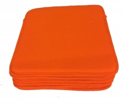 Lot de 6 Dessus de Chaise - Carré de Mousse - Victoria Orange