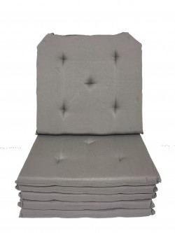Lot de 6 Galettes de Chaise - 5 points - Victoria Taupe
