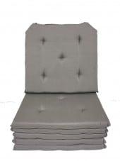 Lot de 6 Galettes de Chaise - 5 points - Victoria Taupe