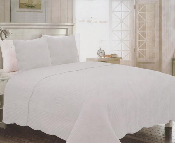 couvre lit blanc cass 2 places. Black Bedroom Furniture Sets. Home Design Ideas