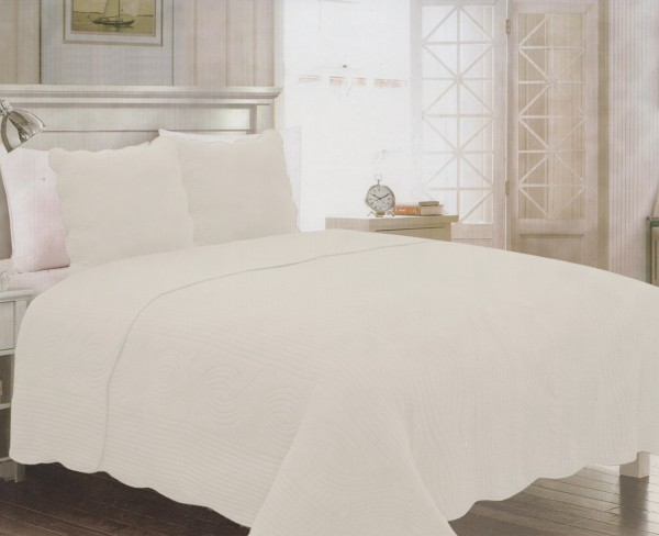 couvre lit beige 2 places. Black Bedroom Furniture Sets. Home Design Ideas