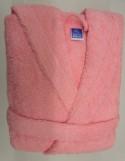 Peignoir Capuche Rose Clair - 100 % coton - 500gr/m² (Taille L)