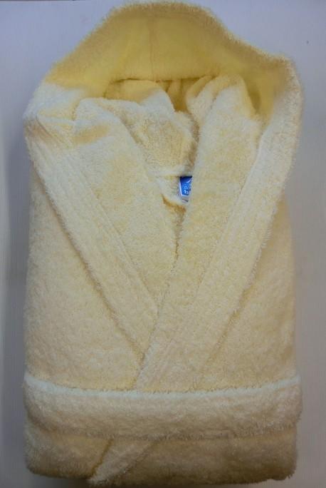 Peignoir Capuche Beige - 100 % coton - 500gr/m² (Taille L)