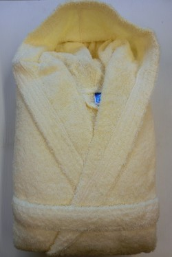 Peignoir Capuche Beige - 100 % coton - 500gr/m² (Taille XL)