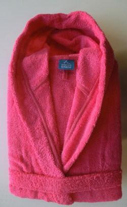 Peignoir Capuche Fuschia - 100 % coton - 440gr/m² (Taille L)