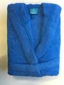 Peignoir Capuche Bleu  - 100 % coton - 440gr/m² (Taille XL)