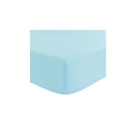 Drap housse 90x190 Turquoise BT 27 cm