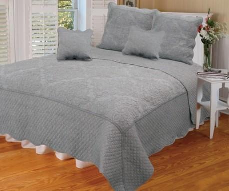 couvre lit iceland gris 260x280. Black Bedroom Furniture Sets. Home Design Ideas