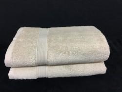 Lot de 2 Draps de Bain Eponge 600 g/m²  100 % coton - Beige