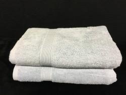 Lot de 2 Draps de Bain Eponge 600 g/m²  100 % coton - Grise