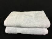Lot de 2 Draps de Bain - 70x140 - Eponge 600 g/m²  100 % coton - Grise