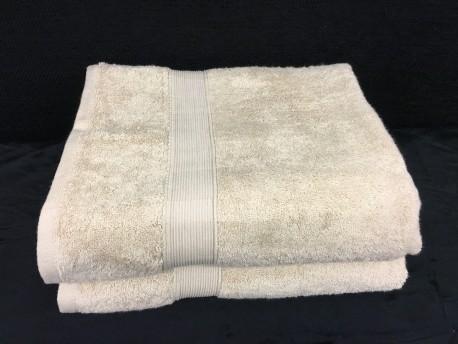 Lot de 2 Grands Draps de Bain Eponge 600 g/m²  100 % coton - Beige