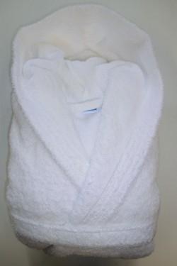 Peignoir Capuche Blanc - 100 % coton - 500gr/m²